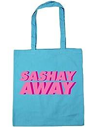 HippoWarehouse SASHAY AWAY (Andar pavoneándose) Bolso de Playa Bolsa Compra Con Asas para gimnasio 42cm x 38cm 10 litros capacidad