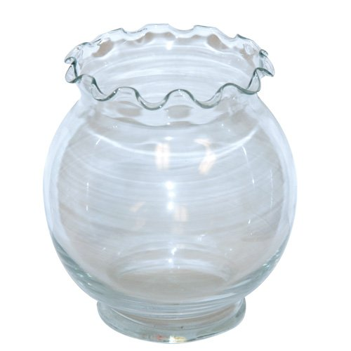 Anchor Hocking 4270 Goldfish Bowl Footed Ivy Ball by Anchor Hocking Fluted Bowl