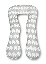 Amilian® Schwangerschaftskissen Lagerungskissen Relaxkissen ink.Bezug universell groß Elefant grau TYP A