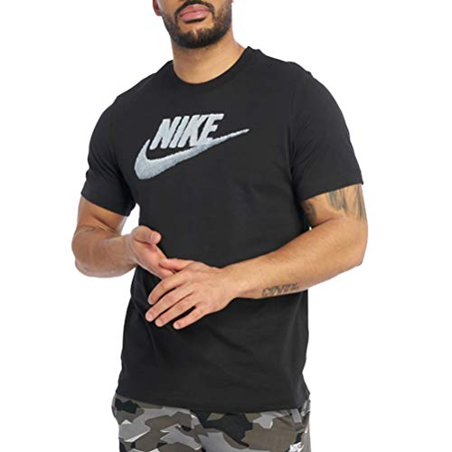 Nike Herren Sportswear T-Shirt, Black/Obsidian Mist, XL