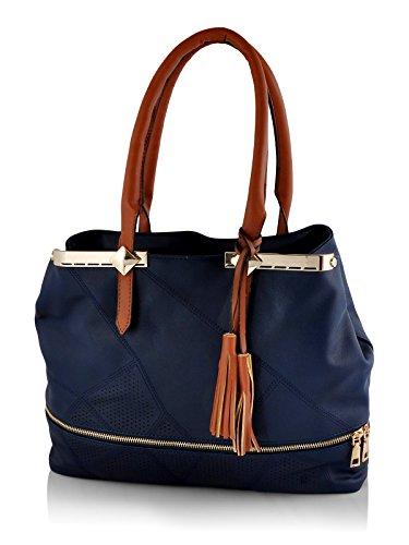 Mark & Keith Blue Handbag (MBG 0248 BL - O)