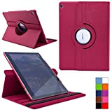 COOVY® Cover für Huawei Mediapad M3 Lite 10 Rotation 360° Smart Hülle Tasche Etui Case Schutz Ständer | Farbe hotpink