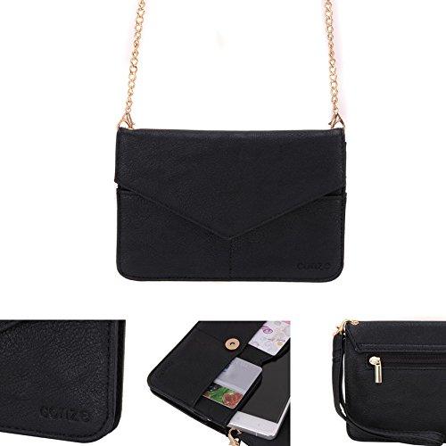 Conze da donna portafoglio tutto borsa con spallacci per Smart Phone per Sony Xperia Z5Premium Grigio grigio nero