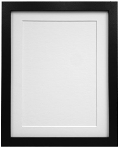 Frames By Post 25mm Black Photo Picture Poster Frame with White ...