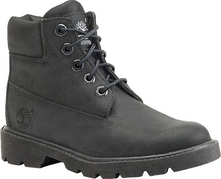 Timberland Youths 6-Inch Classic Leather Boots Black