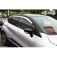 6 St/ück Autoclover Windabweiser-Set f/ür Renault Koleos ab 2016