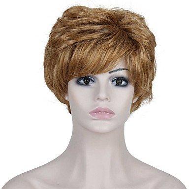 HJL-r¨¦sistantes courtes perruques de chaleur bon march¨¦ fausse perruque de cheveux brun clair synth¨¦tiques pour les femmes , strawberry blonde