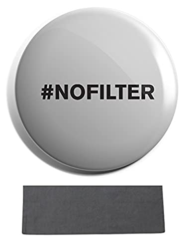 Hippowarehouse #no filter Badge Pin 25mm