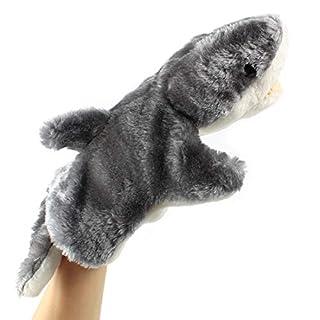 Andux Zone Cute Plush Hand Puppet Stuffed Animal Toy (SO-06 Grey Shark)