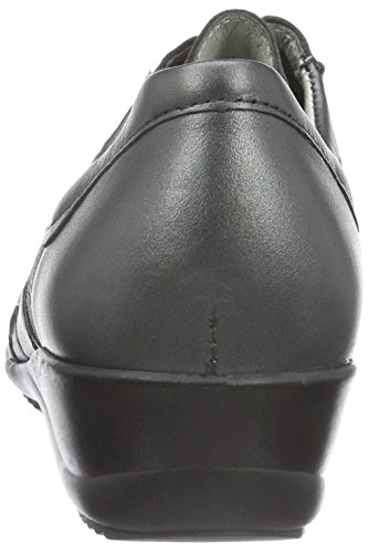 Waldläufer Haisha, Chaussures à Lacets Femme Gris - Grau (Memphis VELOUR Softlack Asphalt)