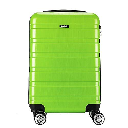 Amasava valigia trolley bagaglio grande valigie trolley rigida in abs+pc 4 ruote leggera 38cm 35 litri 19