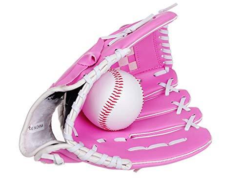 DNYJMDY07 Baseballhandschuh Sport Batting Handschuhe, Baseballhandschuhe PVC verdicken Handschuhe, innen und außen Field Pitcher Catcher Handschuhe - Pink, -