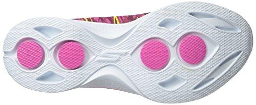 Skechers Go Walk 4 Electrify Toile Chaussure de Marche Pink-Multi