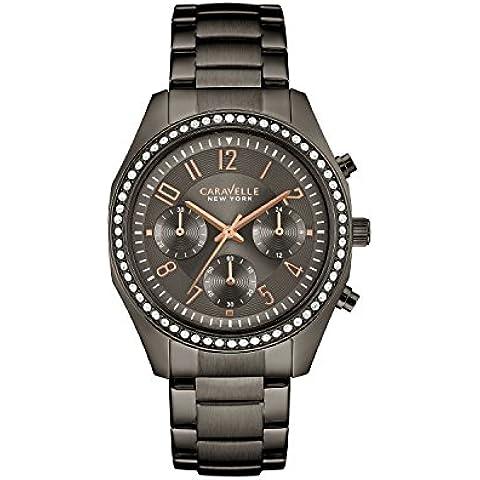 Caravelle 45l161Bracciale da donna cristallo Cronografo Acciaio Quadrante Grigio Smart Watch