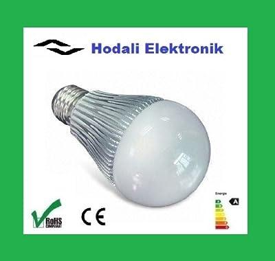 1 x Hodali Elektronik MG-60 LED Lampe 230V E27 710 Lumen warm weiß, entspricht einer 60 W Glühlampe - Sehr geringer Verbrauch nur 7W, für den Dauerbetrieb geeignet - Sonderangebot: Solange Vorrat reicht von Hodali Elektronik bei Lampenhans.de
