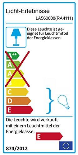 Rabalux 4111, Dovce, Glas, 40Watt, E14, rot/gelb/silber, 18,5x 18,5x 76cm