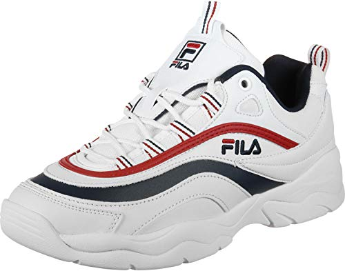 Fila Herren Ray Low 1010561-150 Sneaker, Weiß (White), 45 EU