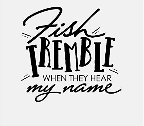 Wandtattoos Schwarze Fische zittern, wenn sie meinen Namen hören Art Decor PVC 60.9CM * 57.7CM (Mein Klassenzimmer Dekorieren Sie)