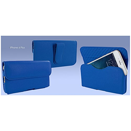 Piel Frama 688CO Etui rigide de protection design Crocodile horizontal pour iPhone 6 Plus Noir bleu