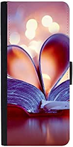Snoogg Bookmark Love Heart Designer Protective Phone Flip Case Cover For Micromax Canvas Juice 2
