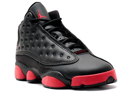 Nike Jungen Air Jordan 13 Retro BG Turnschuhe, Rot (Schwarz/Gym Red), 36 1/2 EU (Jordan Für 13 Kinder Retro)