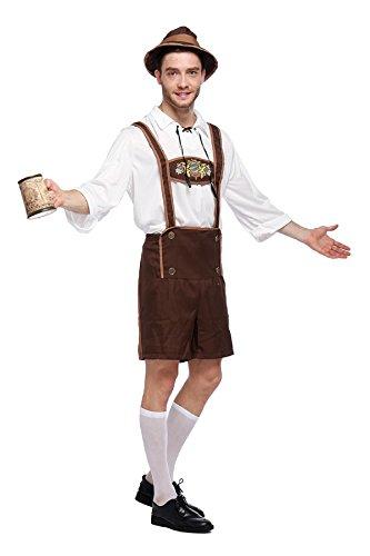 Kostüm Traditionelle Deutschland Aus - Bslingerie® Herren Kostüm Oktoberfest Beer Bavarian Guy Hosen (XL, Beer Bavarian Guy)