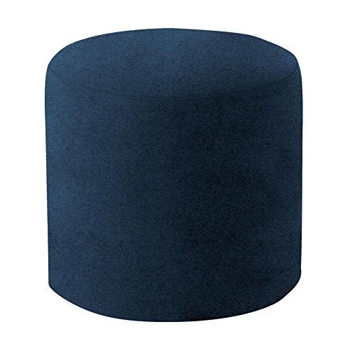 Softline Drum Hocker/Beistelltisch M, dunkelblau Stoff Felt 859 H 40cm Ø 45cm