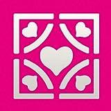 Efco - Stanzer Quadrat Elegant Herzen Motivlocher ~ 22 x 22 mm Verkaufseinheit = 1 Stueck