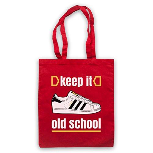 Keep It Old School Retro Superstar Slogan Umhangetaschen Rot