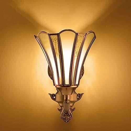 Moderne Innenwandleuchte AC90265V Wandleuchte 1 Leuchten Beleuchtung Glas Laterne für Schlafzimmer Wohnzimmer Lesen E27 Edison Messing Wandleuchte Dekoration Leuchte -