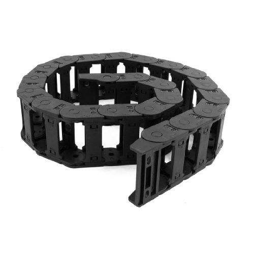 Ouvrir les deux côtés 25 mm x 57 mm-Frein de chaîne plastique Towline 1.06 m Noir