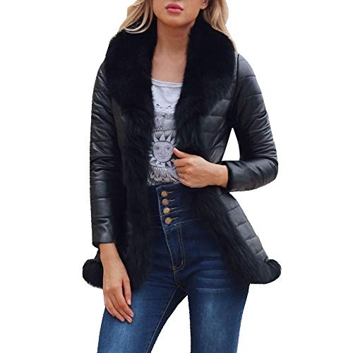 FRAUIT Damen Winter WarmJacke Frauen Zipper Mantel Lederjacke Parka Lange Wollmantel Lange Daunenjacke Solide Lässig Dicker Winter Slim Down Lammy Jacke Mantel Mode Streetwear