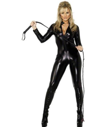 Imagen de smiffys  disfraz de mono de cuero con látigo para mujer, talla m sm28629 m  alternativa