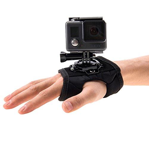 Per go pro accessori elastico regolabile testa mount cinghia testa per gopro hero5hero4session hero 543+ 321sport fotocamera 360 degree rotation glove