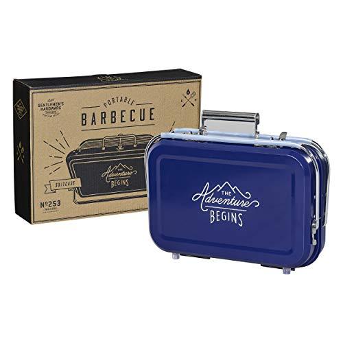 Gentleman' s Hardware GEN253Portable BBQ, Blu, 32x 31.5x 40cm
