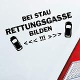 Auto Aufkleber in deiner Wunschfarbe Bei Stau Rettungsgasse bilden! Feuerwehr Leben retten 19x6 cm Autoaufkleber Sticker