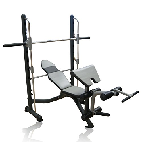 Pro XS Sports Heavy Duty Deluxe Smith Machine Multi Home Gym with Bench Leg Preacher