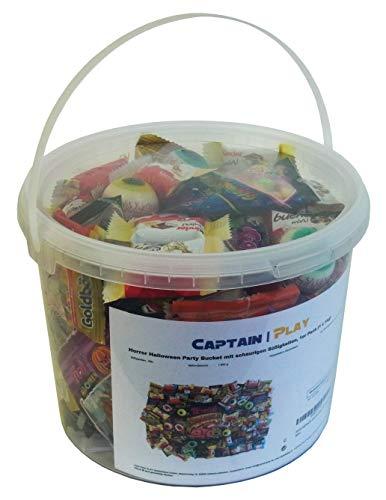 Horror Halloween Party Bucket mit schaurigen Süßigkeiten, 1er Pack (1 x 1kg) - 6