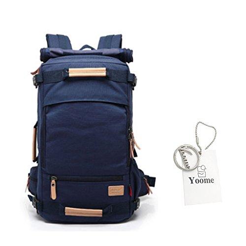 Zaino da viaggio Yoome per Uomo Canotta Zaino multiuso 16 pollici Laptop Large Capacity borse a tracolla Borsette Dayback College Escursioni Camping alpinismo Weekend Bag - 50L Navy Navy casuale 40L