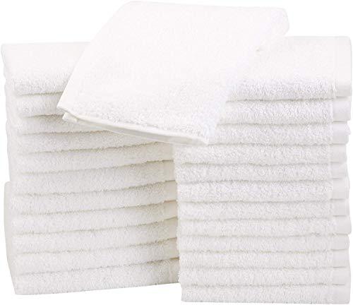 AmazonBasics Asciugamani cotone confezione da 24 Bianco