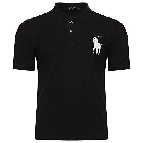 Ralph Lauren Herren Poloshirt, Einfarbig Gr. L, schwarz