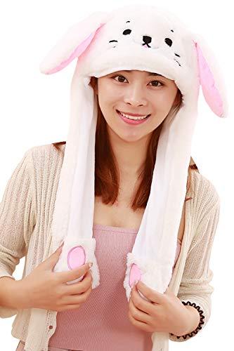Wintermütze Cartoon Mütze mit beweglichen Ohren 3D Halloween Kostüm Geschenk ()