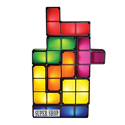 Supershop® Tetris Light Constructible Desk Lamp Light Three-dimensional Puzzle Squares Light