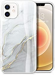 GVIEWIN Aurora Lite Series Case Compatible with iPhone 12 Pro Max 2020, Marble Ultra Slim Thin Glossy Soft TPU