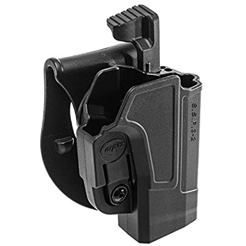 ORPAZ Defense Level 2 retention Tactical Thmub release safety Holster, Tention adjustment, Rotating 360 ROTO paddle for Sig Sauer p320/ P250 Full Size and