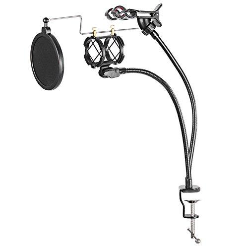 Neewer Kit di supporto per microfono e per Internet Karaoke/per karaoke/Registrazione MV o più include supporto per microfono Filtro Antipop