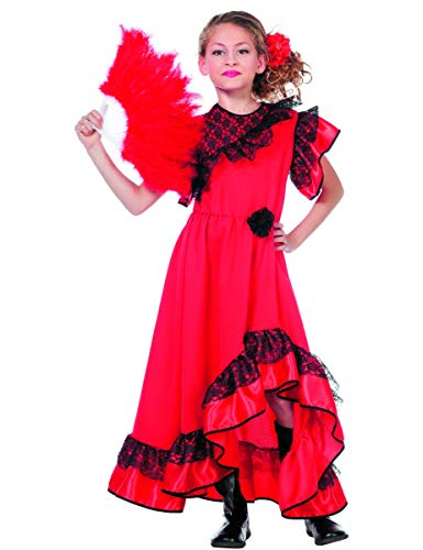 Kind Tänzerin Spanische Kostüm - Kostüm spanische Tänzerin für Kinder