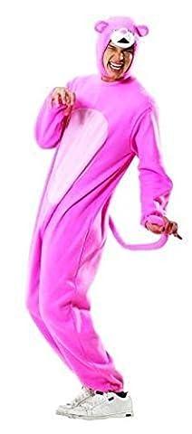 Foxxeo 10233 | Panther Kostüm Overall Pink, Größe:XL (Kostüm Express Für Erwachsene)