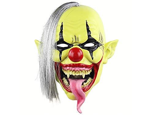 VFK V Kreativ Horror Clown Maske Halloween heikle Kopfbedeckung Scary Ghost Party Maske für Maskerade (weiß) Geschenk