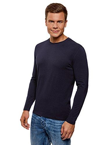 Oodji ultra uomo t-shirt con maniche lunghe senza etichetta (pacco di 2),, it 50-52 / eu 52-54 / l